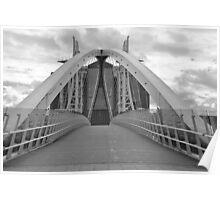 LOWRY BRIDGE B/W,SALFORD QUAYS Poster