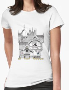 Pac-Man Haunted House Womens Fitted T-Shirt