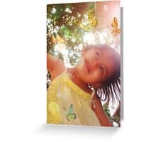 Aina floats with the butterflies Greeting Card