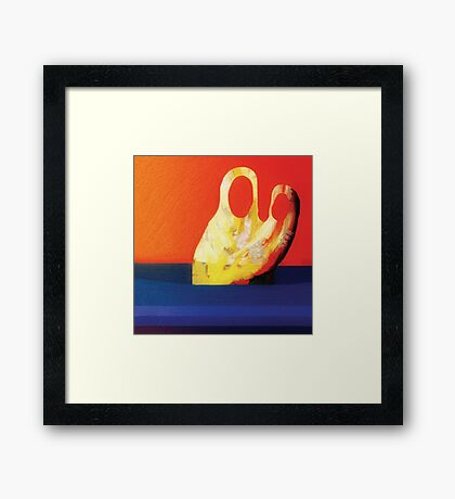 Mother With Child In The River Framed Print