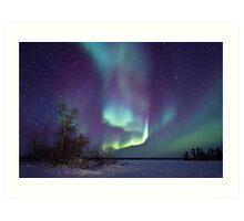 Aurora Borealis over Gordon Lake Art Print