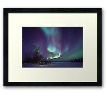 Aurora Borealis over Gordon Lake Framed Print
