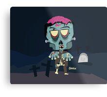Frank the Zombie Metal Print