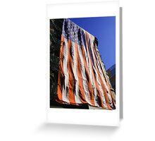 9 11 Flag Greeting Card