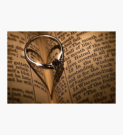 Love Proverb Photographic Print