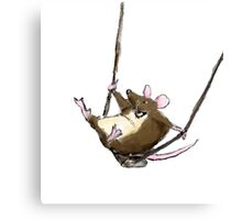 Swinging Mouse Canvas Print
