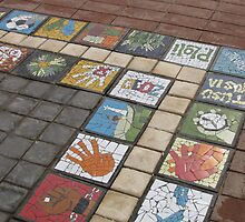 Tiles at the Donkin Reserve by Andrew Perelson