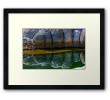 Granite reflections... Framed Print