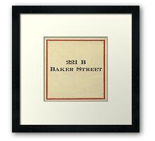 221 B Baker Street Framed Print