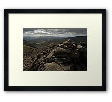 From the summit of Bowfell Framed Print