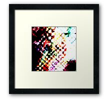 abstract cubed Framed Print
