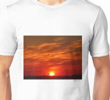 Crimson Sunset on the Horizon... Unisex T-Shirt