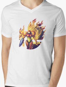 Smash Hype - Samus Mens V-Neck T-Shirt