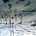 Tumulus by Moonlight - Garrowby Hill by Glenn Marshall