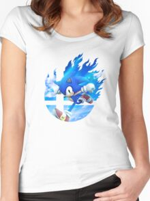 Smash Hype - Sonic Women's Fitted Scoop T-Shirt