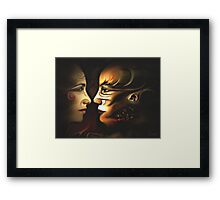 Anticipation d'un baiser Framed Print
