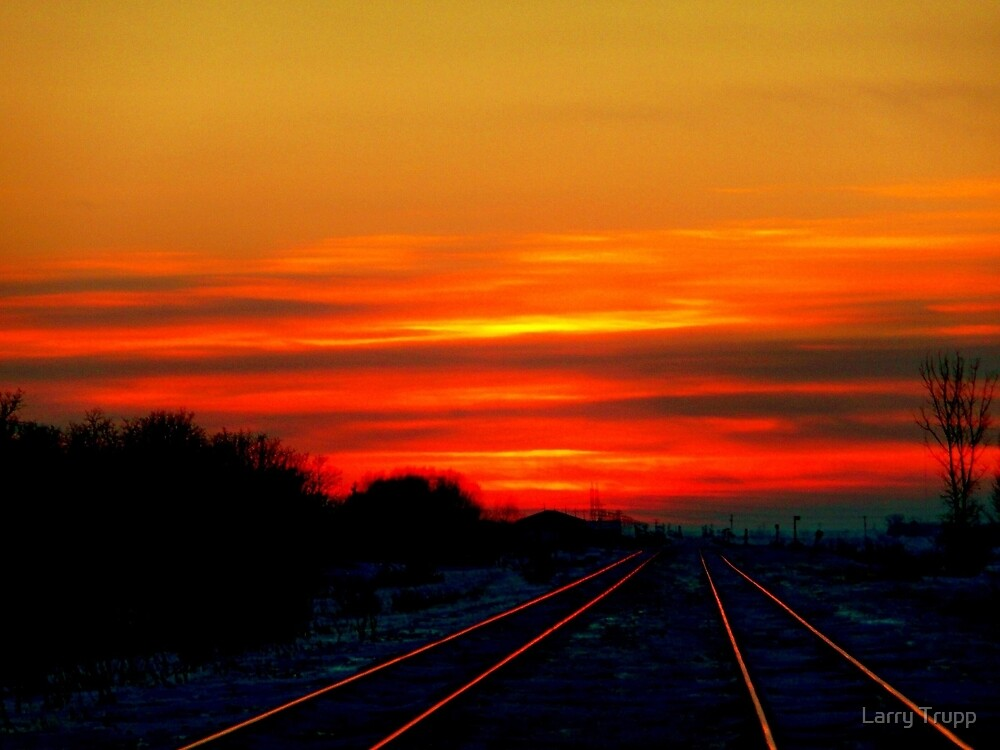 """Scarlet Rails""... by Larry Trupp"