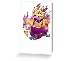 Smash Hype - Wario Greeting Card