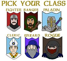 Pick Your Character Class by TheBitGeek