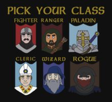 Pick Your Character Class Kids Tee