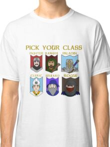 Pick Your Character Class Classic T-Shirt