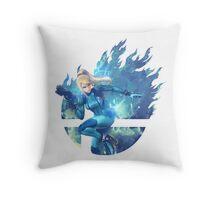 Smash Hype - Zero Suit Samus Throw Pillow