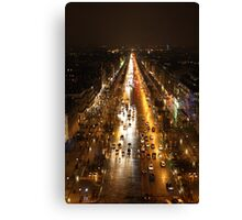Rush Hour- Paris Canvas Print