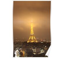 Eiffel Tower by Night- Paris Poster