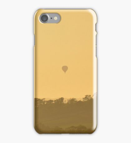 Hazy hot air balloon iPhone Case/Skin