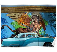 CLASSIC CARS AND MURALS Poster