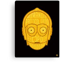 C3PO typographic android design chock full of trivia! Canvas Print
