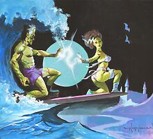 Frankenstein Surfers Tandem Monsters by mikehoffman