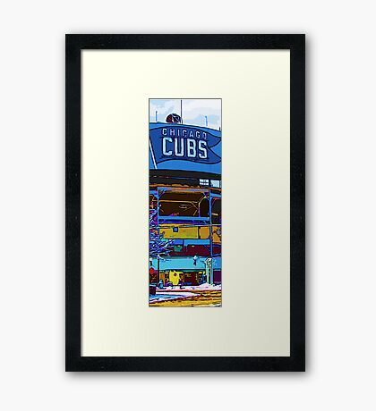 chicago cubs bleachers in winter Framed Print