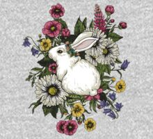 Rabbit in Flowers One Piece - Long Sleeve