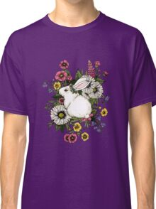 Rabbit in Flowers Classic T-Shirt
