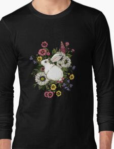 Rabbit in Flowers Long Sleeve T-Shirt