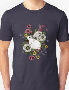 Rabbit in Flowers Unisex T-Shirt
