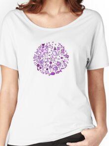 pUrple RandOm Women's Relaxed Fit T-Shirt