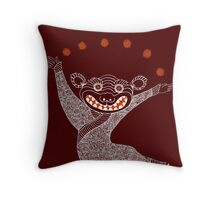 Ghost Tiger Juggler with Red Shoes Throw Pillow