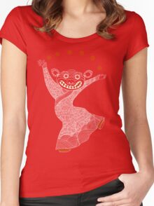 Ghost Tiger Juggler with Red Shoes Women's Fitted Scoop T-Shirt