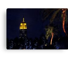 Empire State Palm Trees Canvas Print