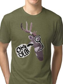 Max's Journal - Oh Deer Tri-blend T-Shirt