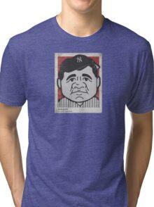 Babe Ruth Caricature Tri-blend T-Shirt
