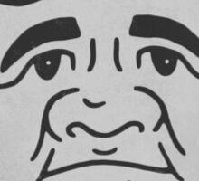 Babe Ruth Caricature Sticker