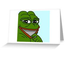 Pepe le frog  Greeting Card