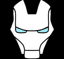 Iron Man White by EgomanticLizard
