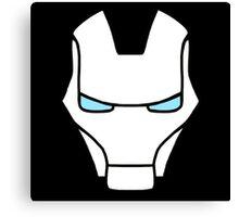 Iron Man White Canvas Print