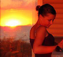 sunset girl by Leeanne Middleton