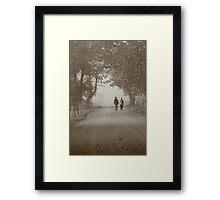 walking in the fog Framed Print