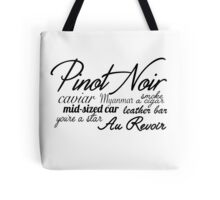 Pinot Noir - Black  Tote Bag
